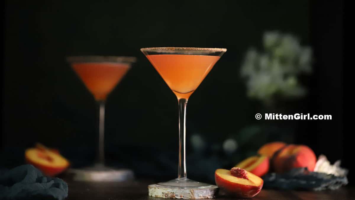 Peach Pie Martinis
