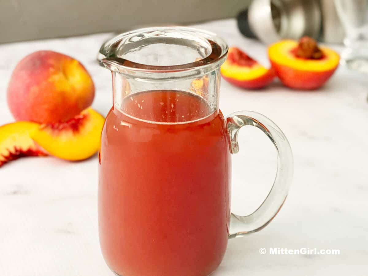 Peach Syrup for cocktails