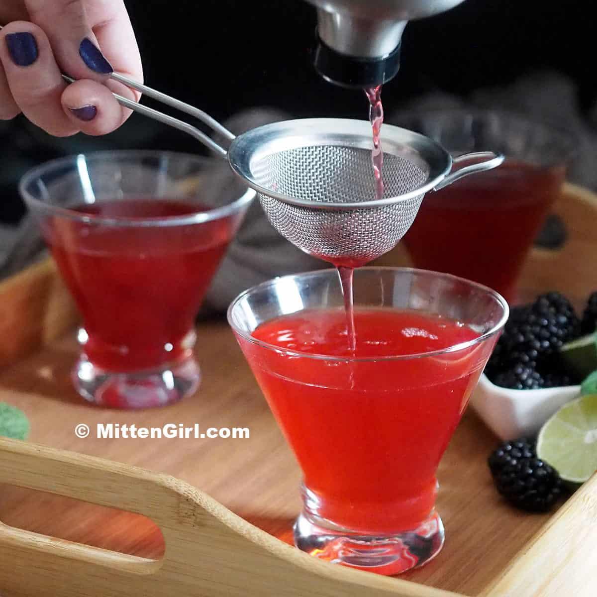 Blackberry Vanilla Martinis