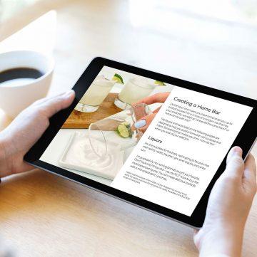 Homemade Happy Hour on iPad