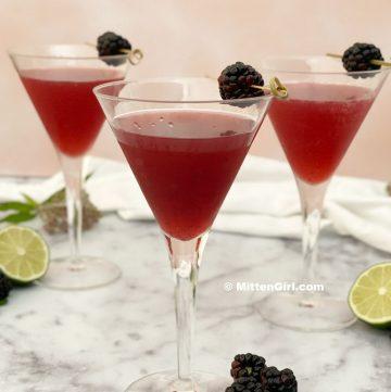 Blackberry Vanilla Martini