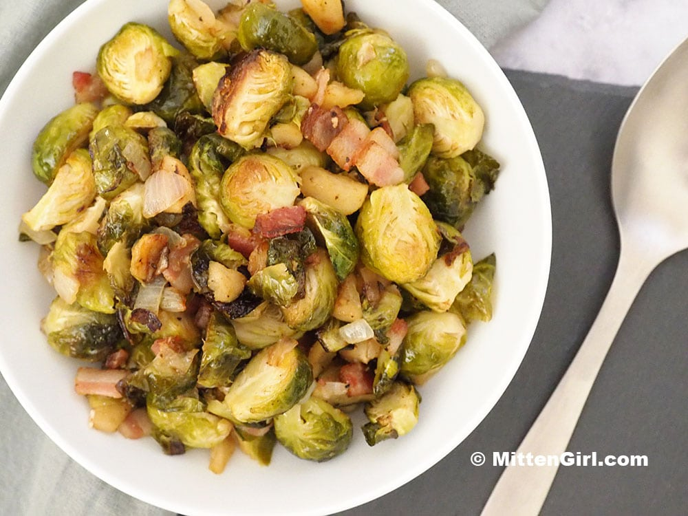 Apple Bacon Brussels Sprouts