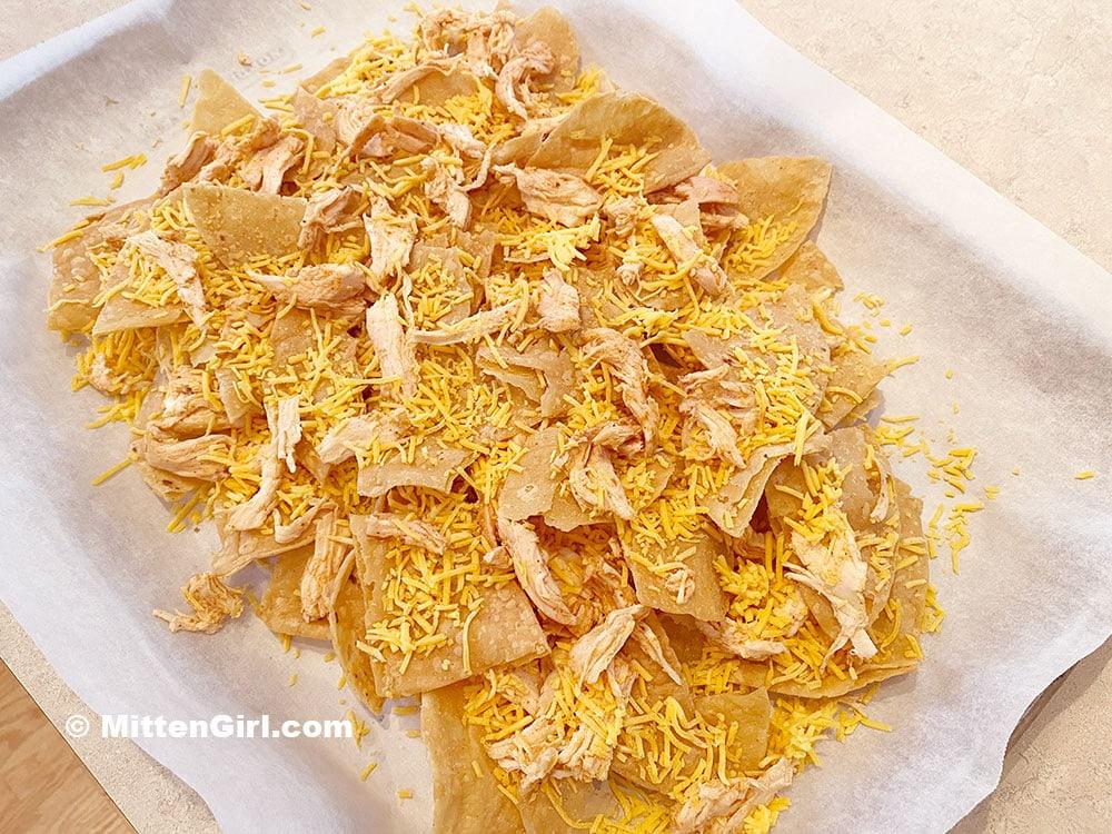 Oven-ready nachos