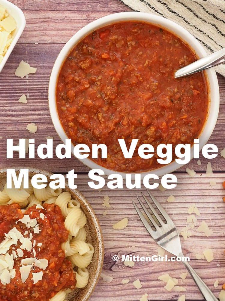 Hidden Veggie Meat Sauce
