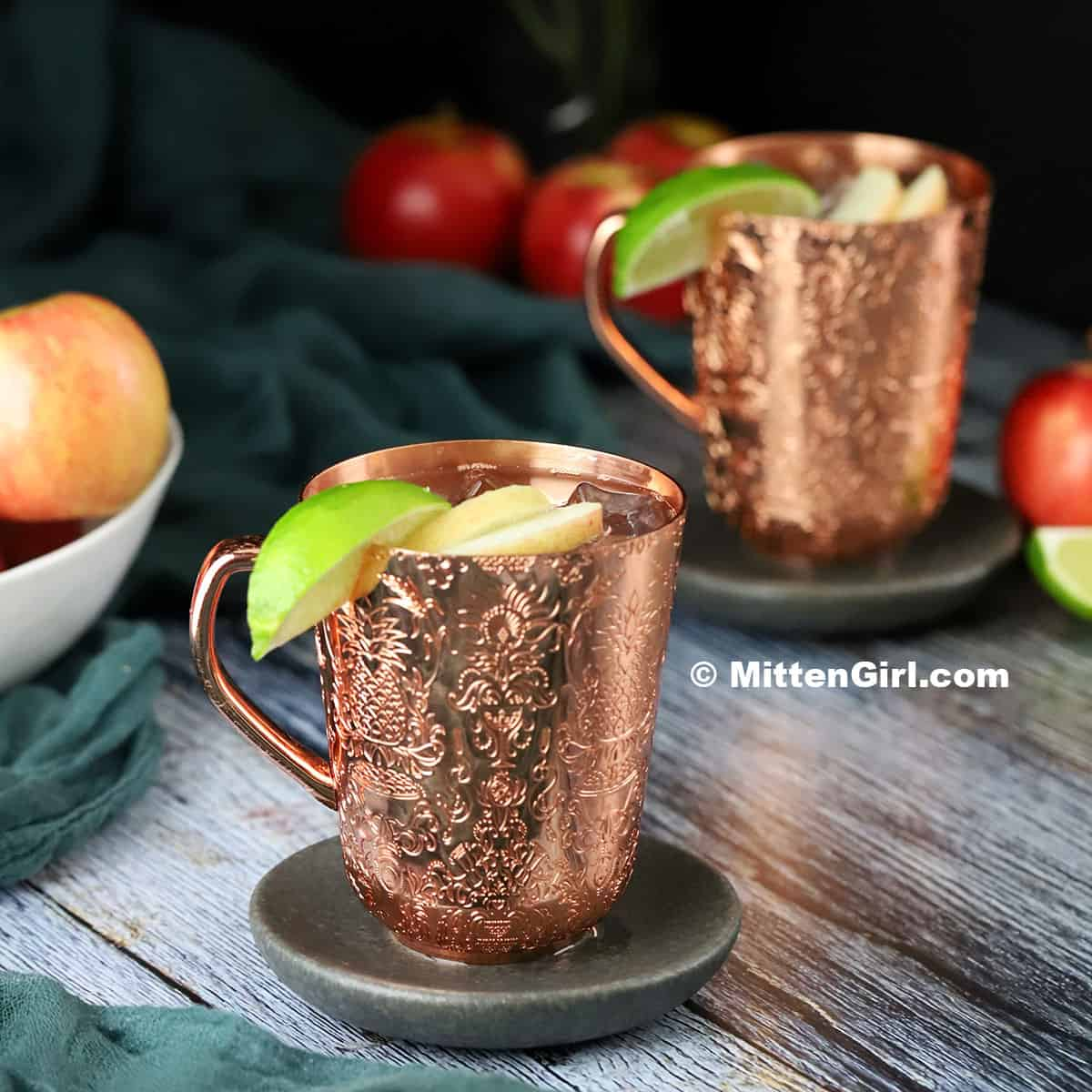 Apple Vodka Moscow Mules