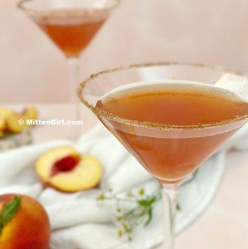 Peach Pie Martini