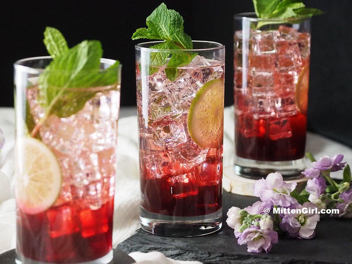 Blackberry Mint Non-Alcoholic Drink