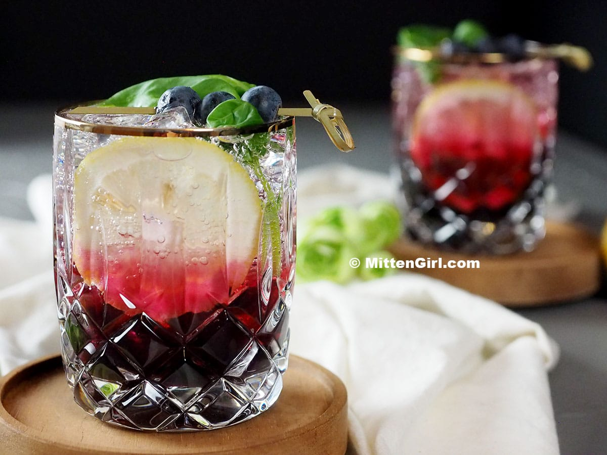 Blueberry Basil Mocktail