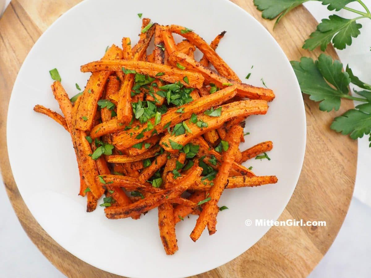 Chili and Garlic Roasted Carrots