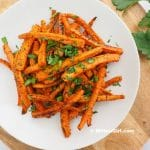 Chili Garlic Roasted Carrots
