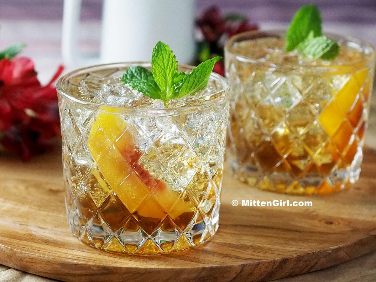 Peach Brown Sugar Non-Alcoholic Drink