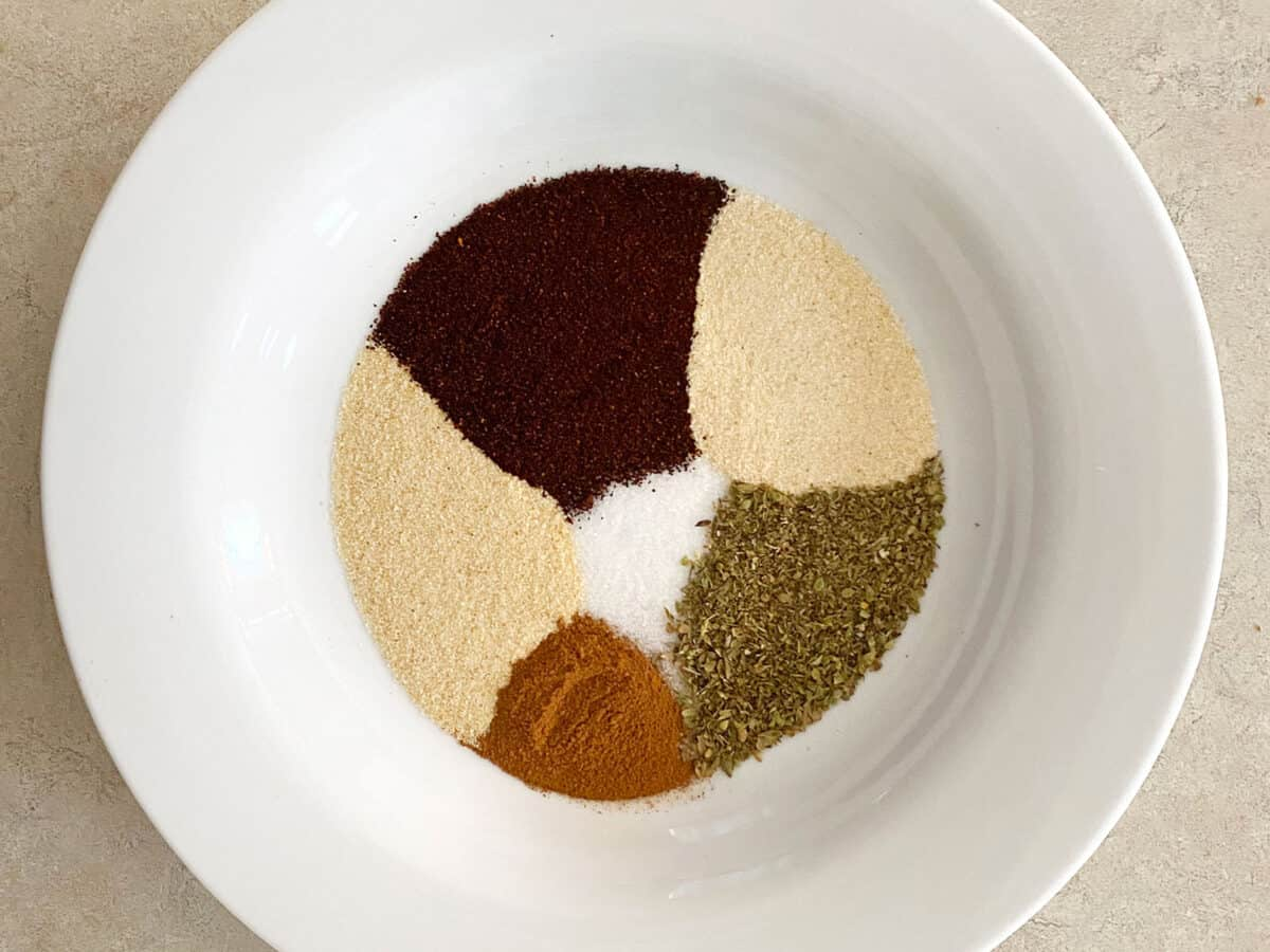 Spice mixture for the pork ribs
