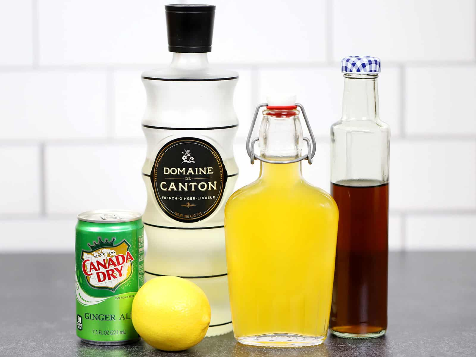 Ingredients for Pumpkin Ginger Martinis